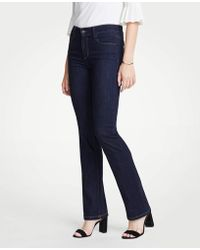 Ann Taylor - Tall Performance Stretch Boot Cut Jeans In Evening Sea Wash - Lyst