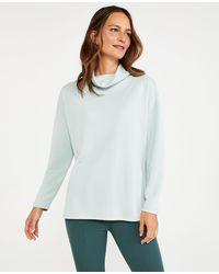 Ann Taylor Cowl Neck Tunic Sweatshirt - Grey