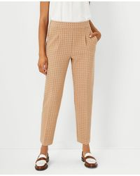 Ann Taylor The Geo Easy Ankle Pant - Natural