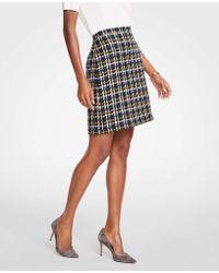 Ann Taylor - Tall Tweed A-line Skirt - Lyst
