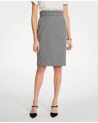 8a5da4c578 Ann Taylor Petite Plaid Button Tab A-line Skirt - Lyst