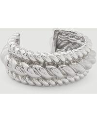 Ann Taylor Twist Cuff Bracelet - Metallic