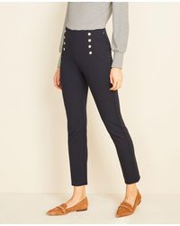 Ann Taylor The Sailor Skinny Pant In Bi-stretch - Blue