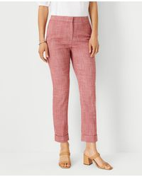 Ann Taylor The Petite High Waist Ankle Pant - Pink