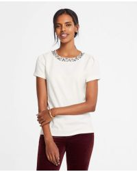 Ann Taylor - Necklace Tee - Lyst