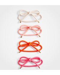 Ann Taylor - Bow Elastic Hair Tie Set - Lyst