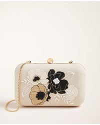 Ann Taylor Beaded Floral Clutch - Multicolor