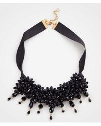 Ann Taylor - Floral Fabric Statement Necklace - Lyst
