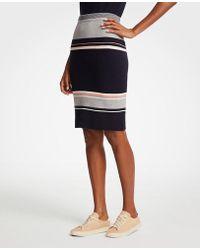 Ann Taylor - Tall Striped Sweater Skirt - Lyst
