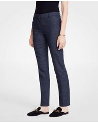Ann Taylor - The Petite Ankle Pant In Mini Check - Curvy Fit - Lyst