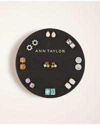 Ann Taylor Spring Stud Earring Set - Metallic