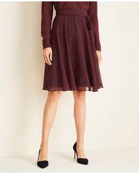 Ann Taylor - Square Dot Full Skirt - Lyst