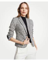 Ann Taylor The Newbury Blazer In Marled Knit - Gray