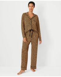 Ann Taylor Leopard Print Pyjama Set - Brown