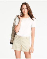 Ann Taylor Petite City Shorts - Natural