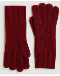 Ann Taylor Cable Gloves - Red