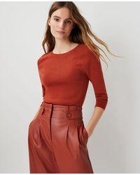 Ann Taylor - Ribbed Raglan Sleeve Sweater - Lyst