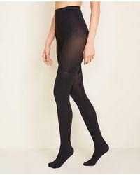 Ann Taylor Perfect Control Top Tights - Black