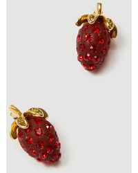 Ann Taylor Strawberry Stud Earrings - Red