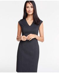 55edbb73856 Michael Kors 3 4-sleeve Pindot Stretch-poplin Wrap Dress in Black - Lyst