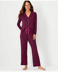 Ann Taylor Confetti Pyjama Set - Red