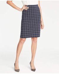 cd8e92361594dd Ann Taylor Blush Sharkskin Pencil Skirt in Natural - Lyst