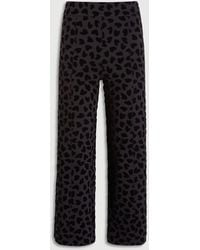 Ann Taylor The Easy Straight Crop Pant - Black
