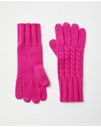 Ann Taylor Cable Gloves - Pink