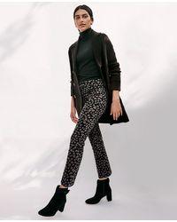 Ann Taylor Petite Five Pocket High Rise Kick Crop Jeans In Black Multi