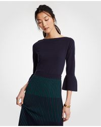 Ann Taylor - Bell Sleeve Sweater - Lyst