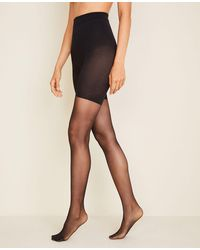 Ann Taylor Perfect Sheer Control Top Tights - Black