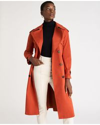 Ann Taylor Petite Modern Trench Coat - Orange