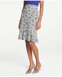 aa880c6f7 Ann Taylor Romantic Flower Flounce Skirt in Black - Lyst