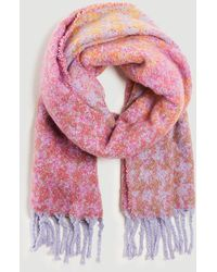 Ann Taylor Multicolored Houndstooth Blanket Scarf - Multicolour