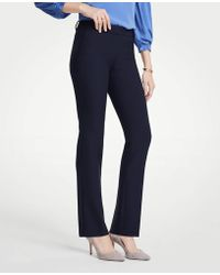 Ann Taylor The Straight Pant - Curvy Fit - Blue