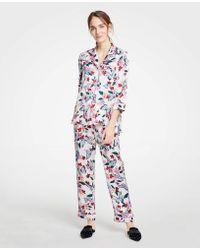 Ann Taylor Printed Pajama Set - White