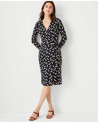 Ann Taylor Cat Matte Jersey Wrap Dress - Black
