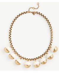 Ann Taylor Metal Resin Bauble Necklace - Metallic