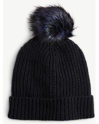 Ann Taylor - Pom Pom Knit Hat - Lyst