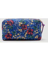 Ann Taylor Floral Makeup Case - Blue