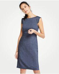 d039836319 Ann Taylor - The Cap-sleeve Sheath Dress In Linen Blend - Lyst