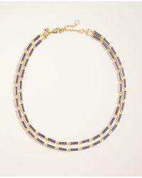 Ann Taylor Stone Statement Necklace - Metallic