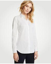 Ann Taylor Petite Perfect Shirt - White