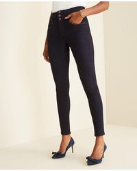 Ann Taylor - Petite Sculpting Pockets High Rise Skinny Jeans In Classic Rinse Wash - Lyst