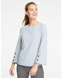 Ann Taylor - Button Flare Sleeve Top - Lyst