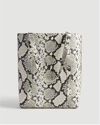 Ann Taylor Snake Print Tote Bag - Grey