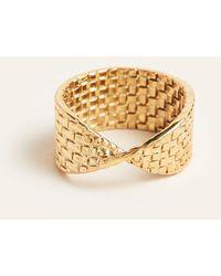 Ann Taylor Basketweave Ring - Metallic