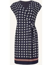 Ann Taylor Petite Seashell Cap Sleeve Wrap Dress - Blue