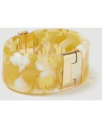 Ann Taylor Tortoiseshell Print Cuff Bracelet - Metallic