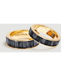 Ann Taylor Baguette Ring Set - Black